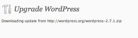 Upgrade WordPress