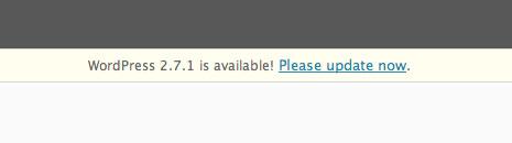 WordPress 2.7.1