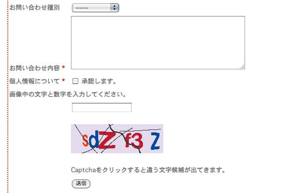 CAPTCHA 機能